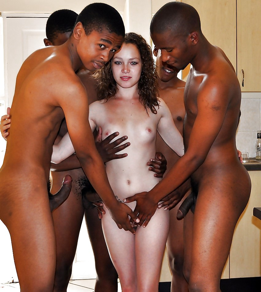 Amateur white wife becomes a property of black 10