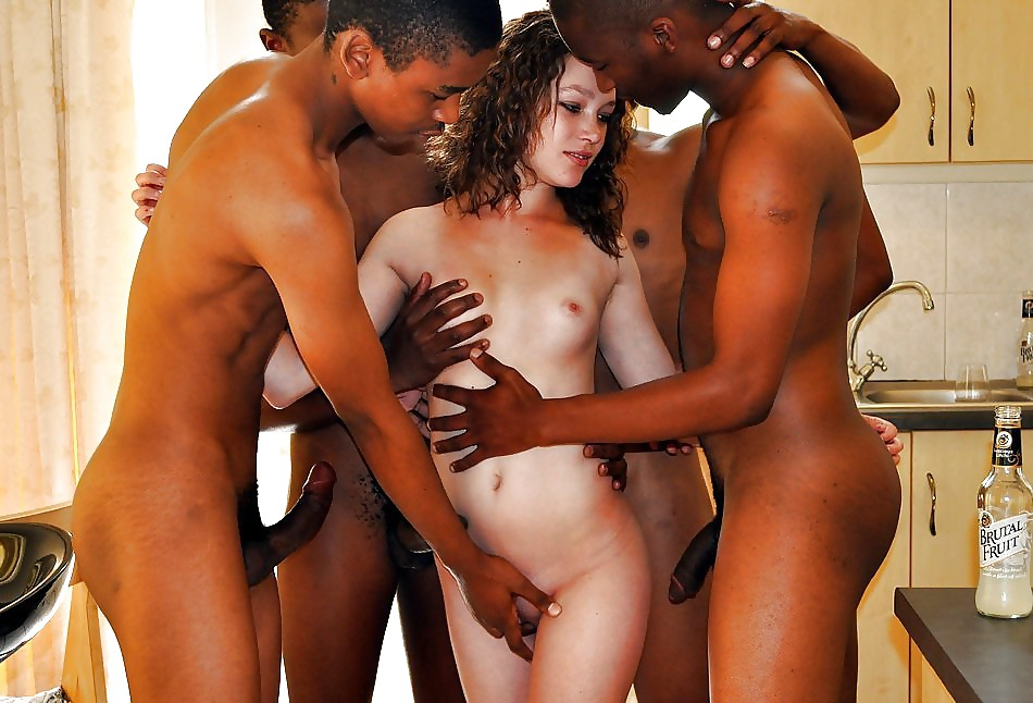 White whore black men cum deposit
