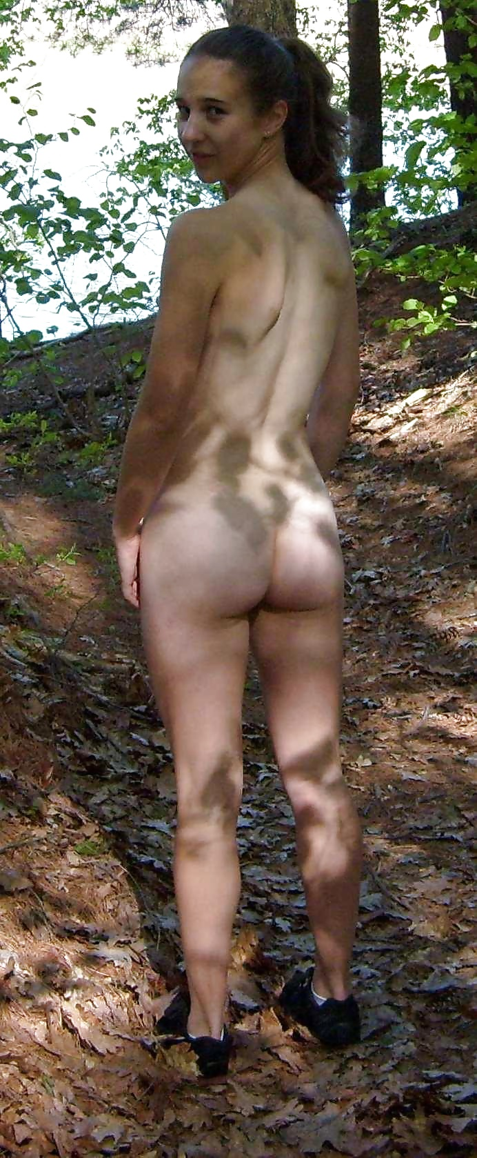 naked girl butt cum